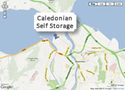 Location Map for Caledonian Self Storage in Inverness