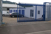Secure storage units - security gate