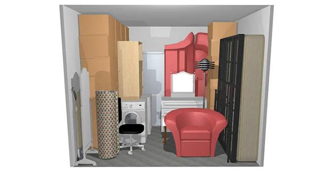 Caledonian self storage storage space 100 square foot for 100 sq ft room
